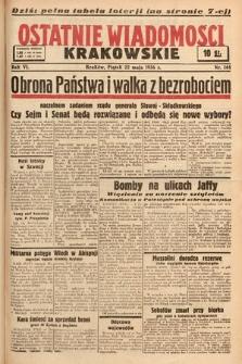 Ostatnie Wiadomości Krakowskie. 1936, nr144