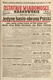 Ostatnie Wiadomości Krakowskie. 1936, nr149