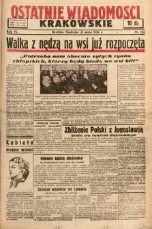 Ostatnie Wiadomości Krakowskie. 1936, nr153