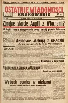 Ostatnie Wiadomości Krakowskie. 1936, nr155
