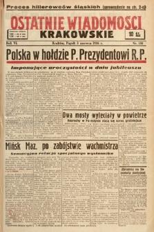 Ostatnie Wiadomości Krakowskie. 1936, nr158