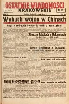 Ostatnie Wiadomości Krakowskie. 1936, nr163