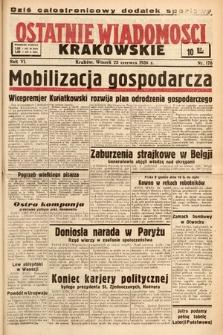 Ostatnie Wiadomości Krakowskie. 1936, nr176