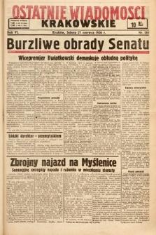 Ostatnie Wiadomości Krakowskie. 1936, nr180
