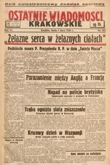 Ostatnie Wiadomości Krakowskie. 1936, nr184