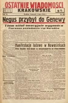 Ostatnie Wiadomości Krakowskie. 1936, nr185