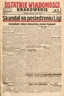 Ostatnie Wiadomości Krakowskie. 1936, nr186