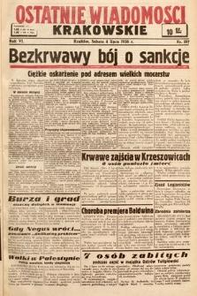 Ostatnie Wiadomości Krakowskie. 1936, nr187