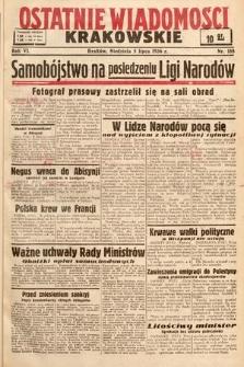 Ostatnie Wiadomości Krakowskie. 1936, nr188