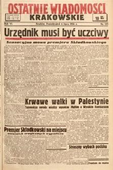 Ostatnie Wiadomości Krakowskie. 1936, nr189