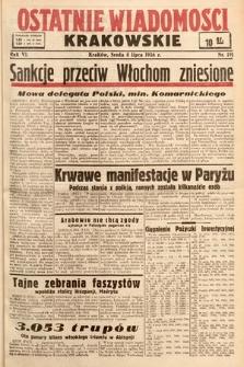 Ostatnie Wiadomości Krakowskie. 1936, nr191