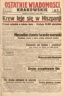 Ostatnie Wiadomości Krakowskie. 1936, nr192