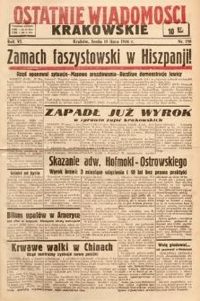 Ostatnie Wiadomości Krakowskie. 1936, nr198