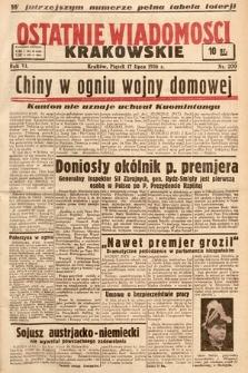 Ostatnie Wiadomości Krakowskie. 1936, nr200