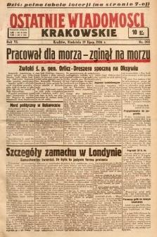 Ostatnie Wiadomości Krakowskie. 1936, nr202
