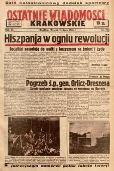 Ostatnie Wiadomości Krakowskie. 1936, nr204