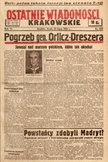 Ostatnie Wiadomości Krakowskie. 1936, nr205