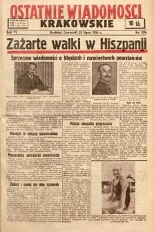 Ostatnie Wiadomości Krakowskie. 1936, nr206