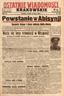 Ostatnie Wiadomości Krakowskie. 1936, nr207