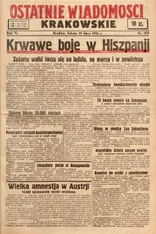 Ostatnie Wiadomości Krakowskie. 1936, nr208