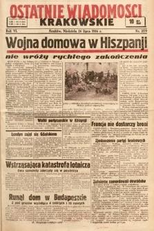 Ostatnie Wiadomości Krakowskie. 1936, nr209