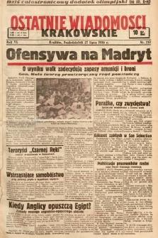 Ostatnie Wiadomości Krakowskie. 1936, nr210