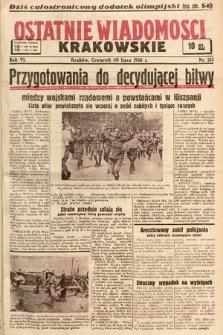 Ostatnie Wiadomości Krakowskie. 1936, nr213