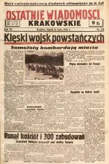 Ostatnie Wiadomości Krakowskie. 1936, nr214