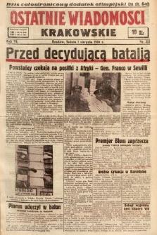 Ostatnie Wiadomości Krakowskie. 1936, nr215