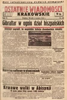 Ostatnie Wiadomości Krakowskie. 1936, nr218