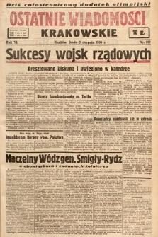 Ostatnie Wiadomości Krakowskie. 1936, nr219