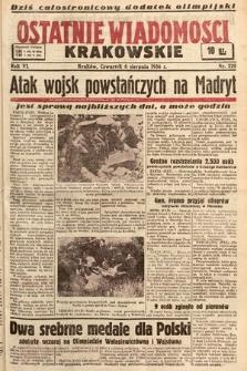 Ostatnie Wiadomości Krakowskie. 1936, nr220