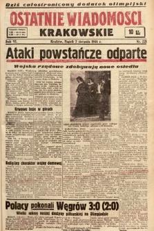 Ostatnie Wiadomości Krakowskie. 1936, nr221