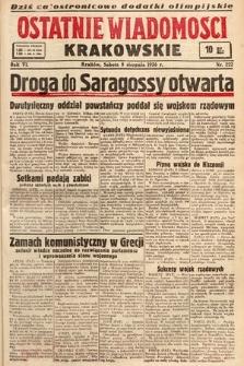 Ostatnie Wiadomości Krakowskie. 1936, nr222