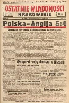 Ostatnie Wiadomości Krakowskie. 1936, nr224