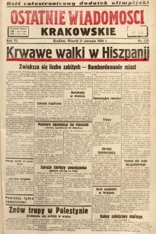 Ostatnie Wiadomości Krakowskie. 1936, nr225