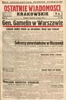 Ostatnie Wiadomości Krakowskie. 1936, nr228