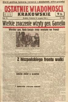Ostatnie Wiadomości Krakowskie. 1936, nr230