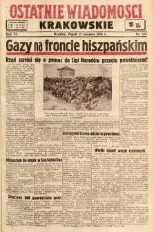 Ostatnie Wiadomości Krakowskie. 1936, nr235