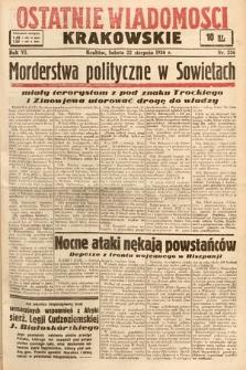 Ostatnie Wiadomości Krakowskie. 1936, nr236