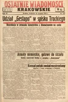 Ostatnie Wiadomości Krakowskie. 1936, nr237