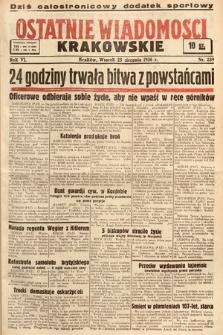 Ostatnie Wiadomości Krakowskie. 1936, nr239