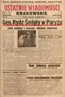 Ostatnie Wiadomości Krakowskie. 1936, nr246