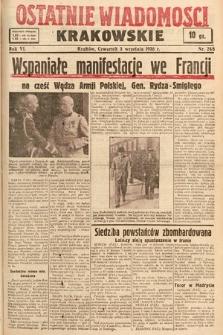 Ostatnie Wiadomości Krakowskie. 1936, nr248