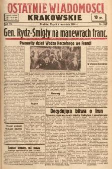 Ostatnie Wiadomości Krakowskie. 1936, nr249