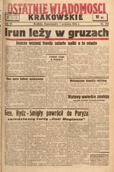 Ostatnie Wiadomości Krakowskie. 1936, nr252