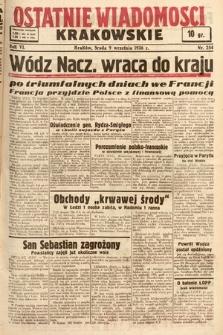 Ostatnie Wiadomości Krakowskie. 1936, nr254