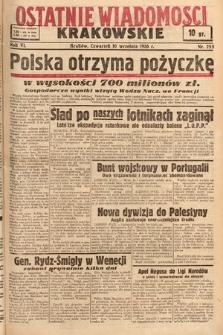 Ostatnie Wiadomości Krakowskie. 1936, nr255