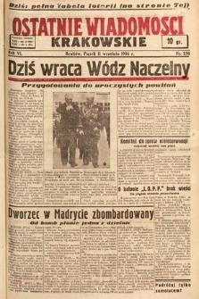 Ostatnie Wiadomości Krakowskie. 1936, nr256
