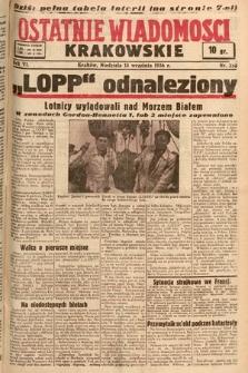 Ostatnie Wiadomości Krakowskie. 1936, nr258